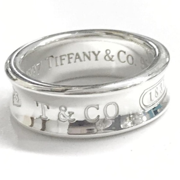 57beabe36 Tiffany & Co. Jewelry | Tiffany Co 1837 Sterling Silver Ring Size 7 ...